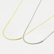 Gold Curb Choker Layering Necklace