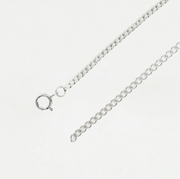 Silver Curb Choker Layering Necklace