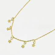 Gold Seeing Stars Choker Necklace