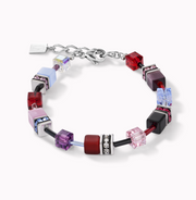 Coeur De Lion GeoCUBE Purple Red Blue Bracelet