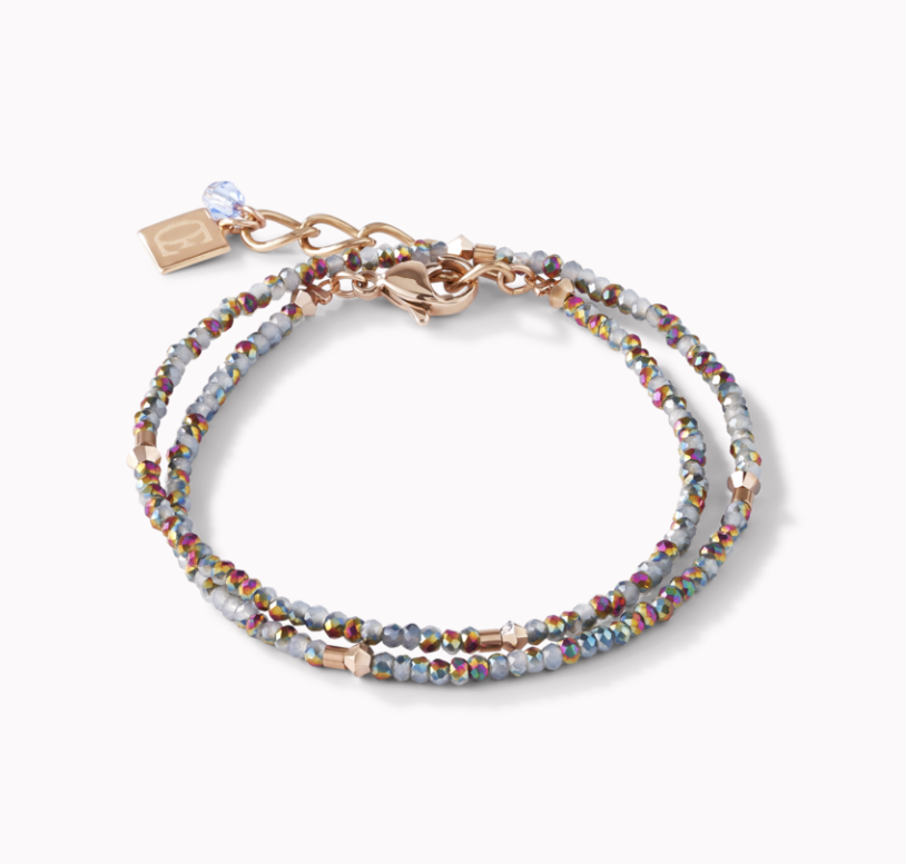 Coeur De Lion Rainbow & Blue Small Crystal Bracelet