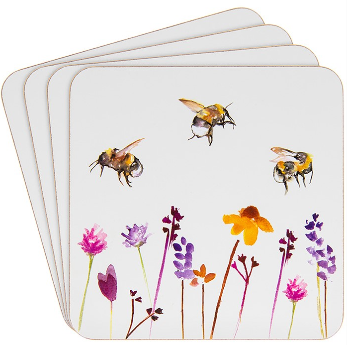 Painted Bees Coaster Set