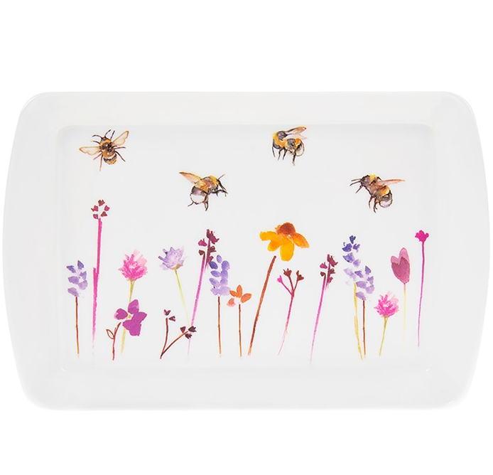 Painted Bees Tray