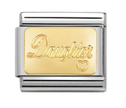 Nomination Gold Daughter Charm 030121/25