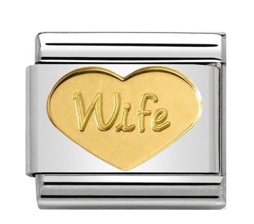 Nomination Gold Wife Heart Charm 030162/42