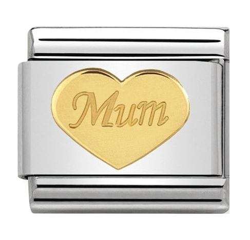 Nomination Gold Mum Heart Charm 030162/38