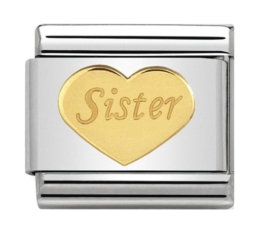 Nomination Gold Sister Heart Charm 030162/36
