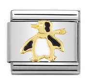 Nomination Gold Penguin Charm 030213/04