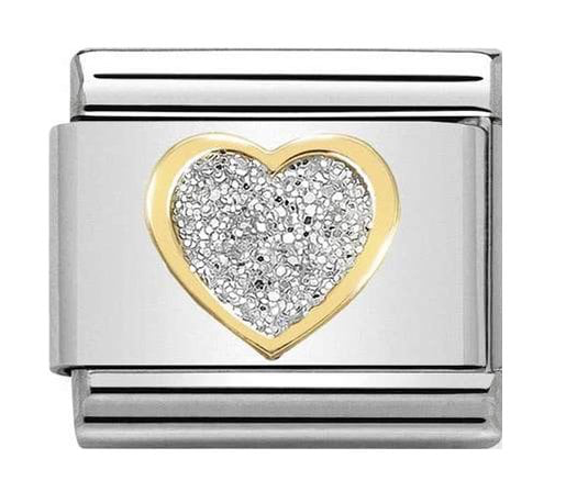 Nomination Gold Glitter Heart Charm 030220/02