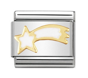 Nomination Gold & White Shooting Star Charm 030225/02