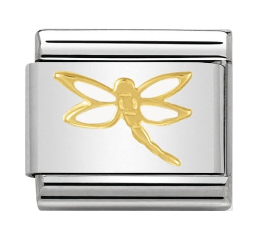 Nomination Gold & White Dragonfly Charm 030278/07