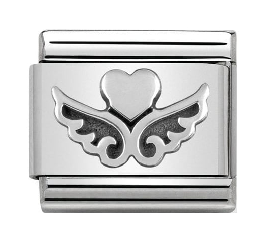 Nomination Silver Heart with Wings Charm 330101/13