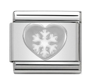 Nomination Silver Heart & Snowflake Charm 330204/02