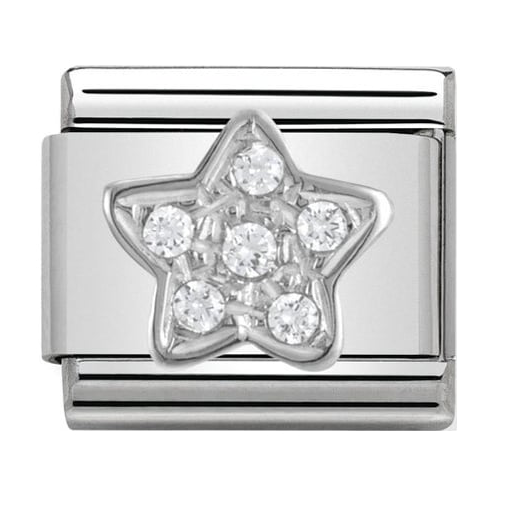 Nomination Silver Crystal Star Charm 330304/02