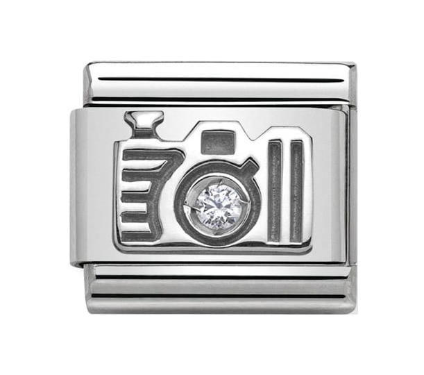 Nomination Silver Crystal Camera Charm 330311/06