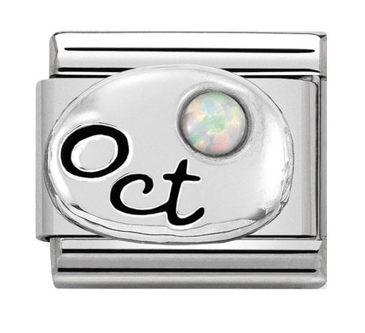 Nomination Silver Opal October Charm 330505/10