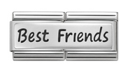 Nomination Silver Best Friends Double Link Charm 330710/03