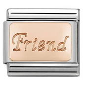 Nomination Rose Gold Friend Charm 430108/14