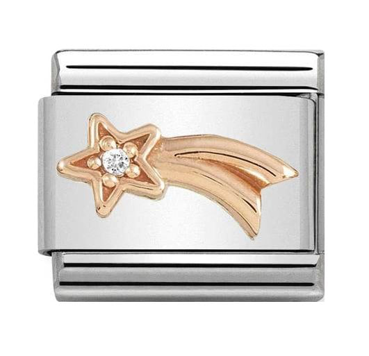 Nomination Rose Gold Shooting Star Crystal Charm 430305/21