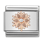 Nomination Rose Gold Crystal Snowflake Charm 430305/23