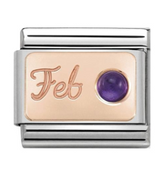 Nomination Rose Gold February Amethyst Charm 430508/02