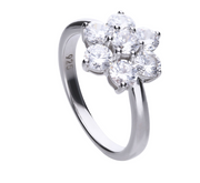 R3656 diamonfire flower cluster ring