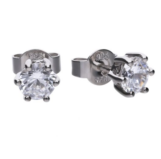 Diamonfire Solitaire 1ct Claw Set Stud Earrings E5630