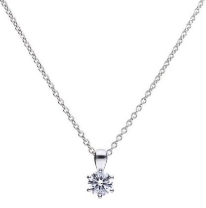 Diamonfire Solitaire 0.75ct Claw Set Pendant p4609