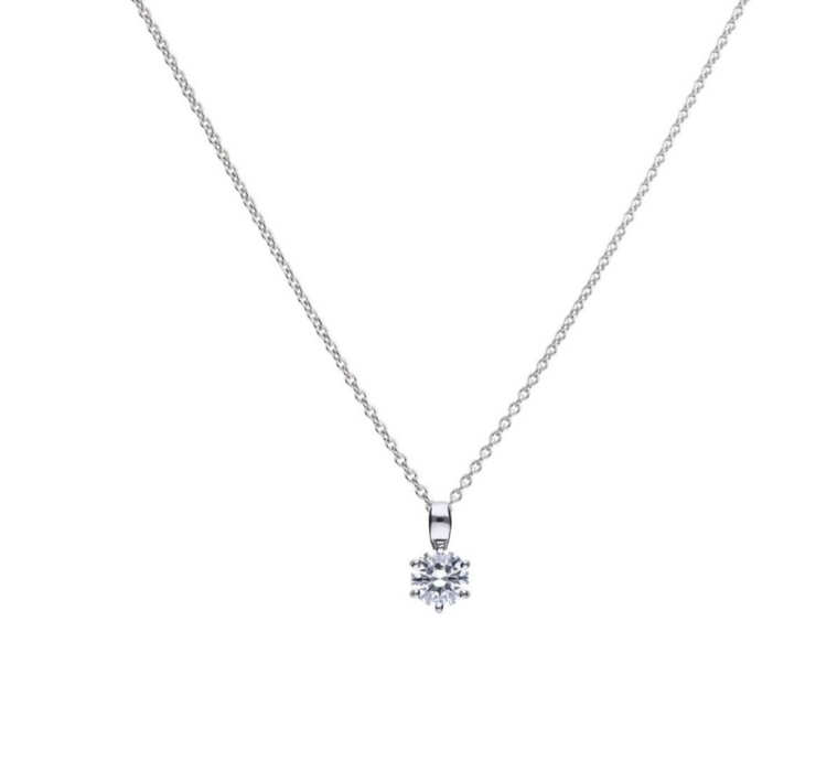 Diamonfire Solitaire 1ct Claw Set Pendant