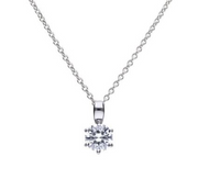 Diamonfire Solitaire 1ct Claw Set Pendant p4608