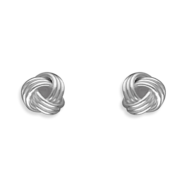 Dainty Knot Stud Earrings