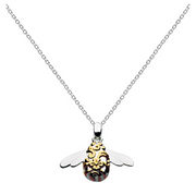 Kit Heath Blossom Bumble Bee Gold Pendant