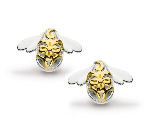Kit Heath Blossom Bumblebee Gold Stud Earrings