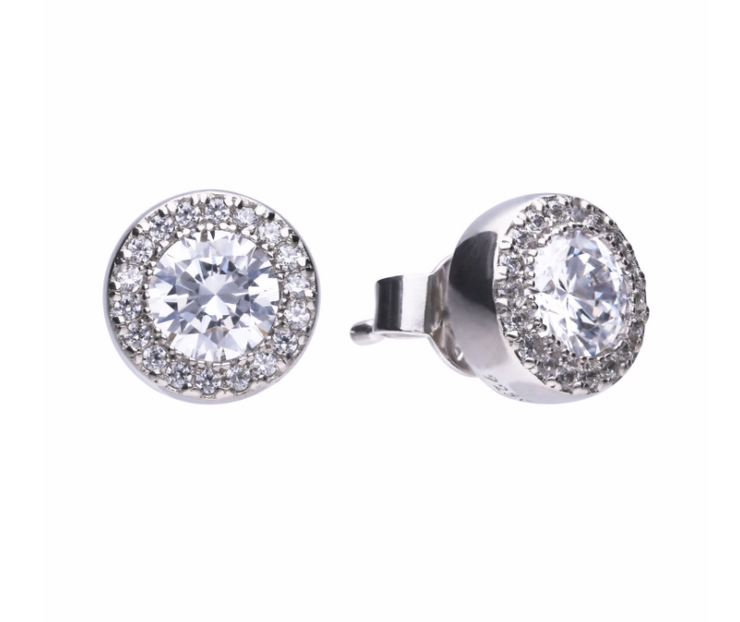 Diamonfire Round Pave Set Studs