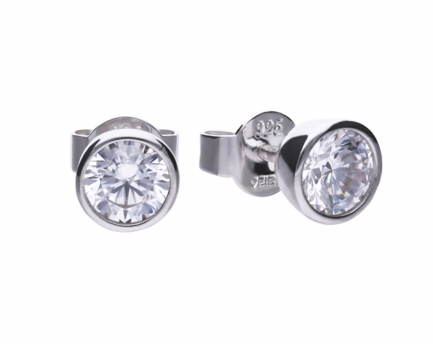 Diamonfire 1ct Bezel Set Stud Earrings