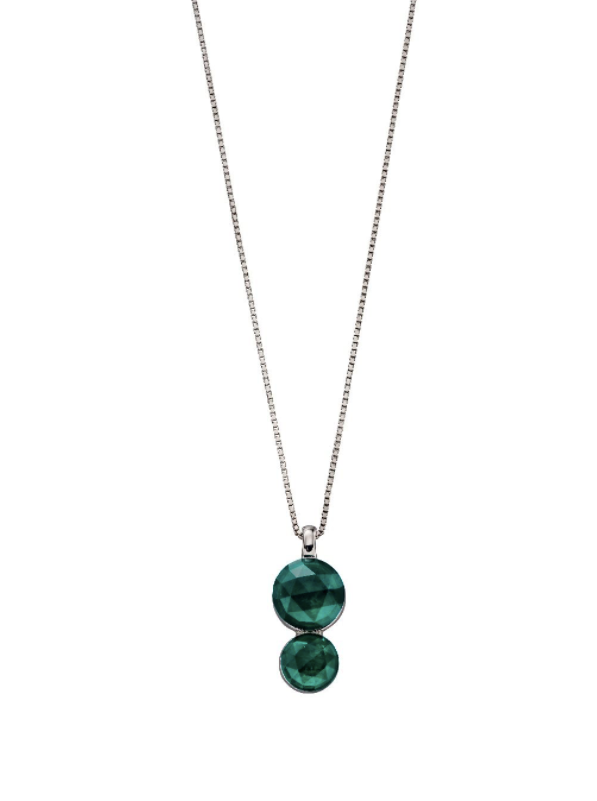 Fiorelli Emerald Green Rose Cut Pendant