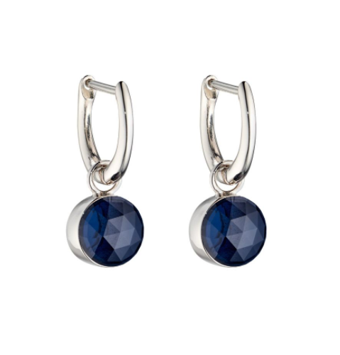 Fiorelli Sapphire Blue Rose Cut Drop Earrings