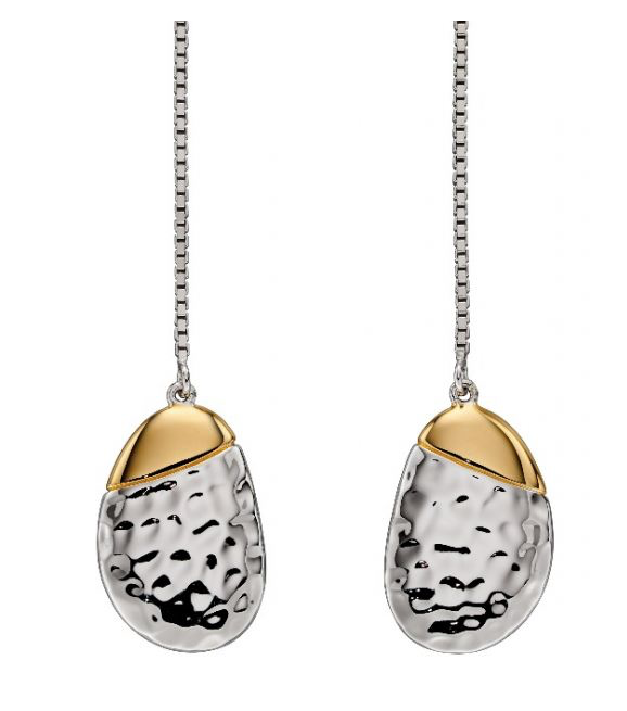 Fiorelli Hammered Pebble Drop Earrings