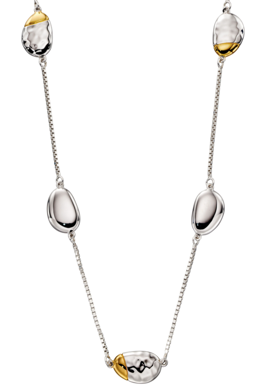 Fiorelli Hammered Pebble Necklace