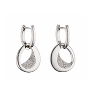 Fiorelli Organic Silver CZ Disc Drop Earrings