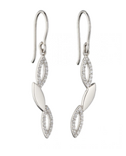 Fiorelli Navette ZigZag Drop Earrings