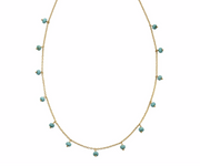 Gold Magnesite Bead Necklace