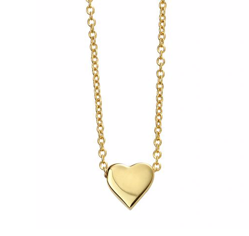 Gold Solid Heart Necklace