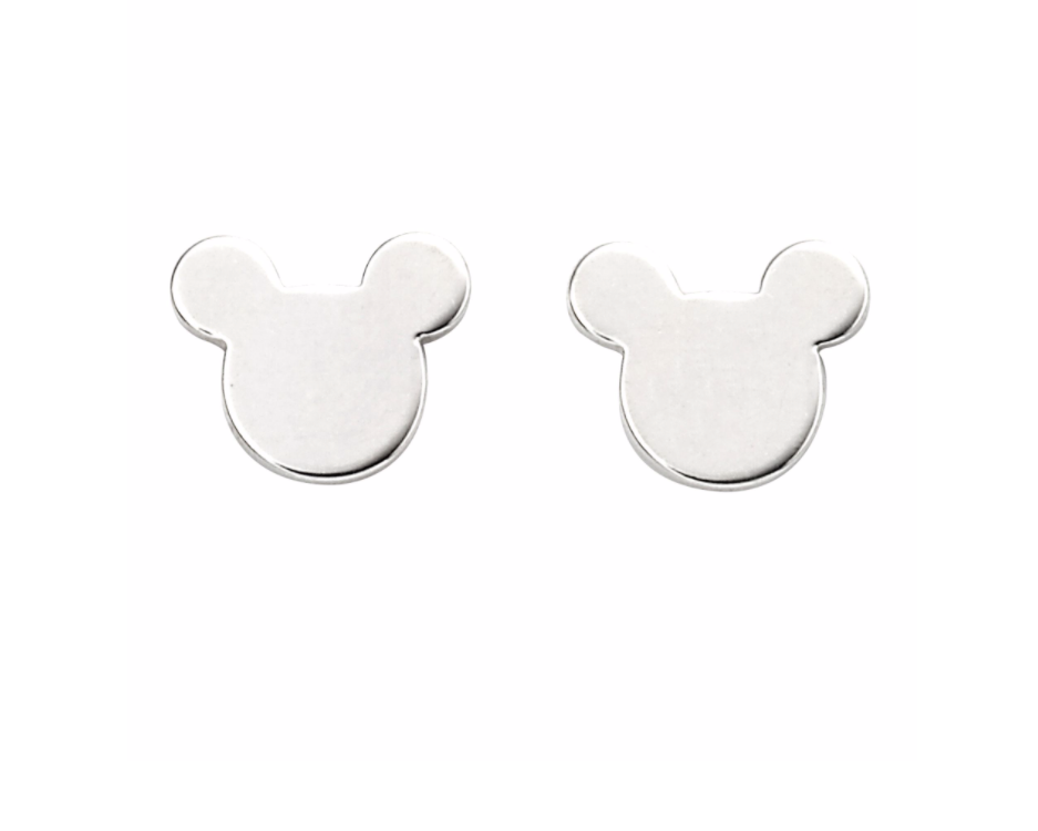 Silver Mickey the Mouse Stud Earrings