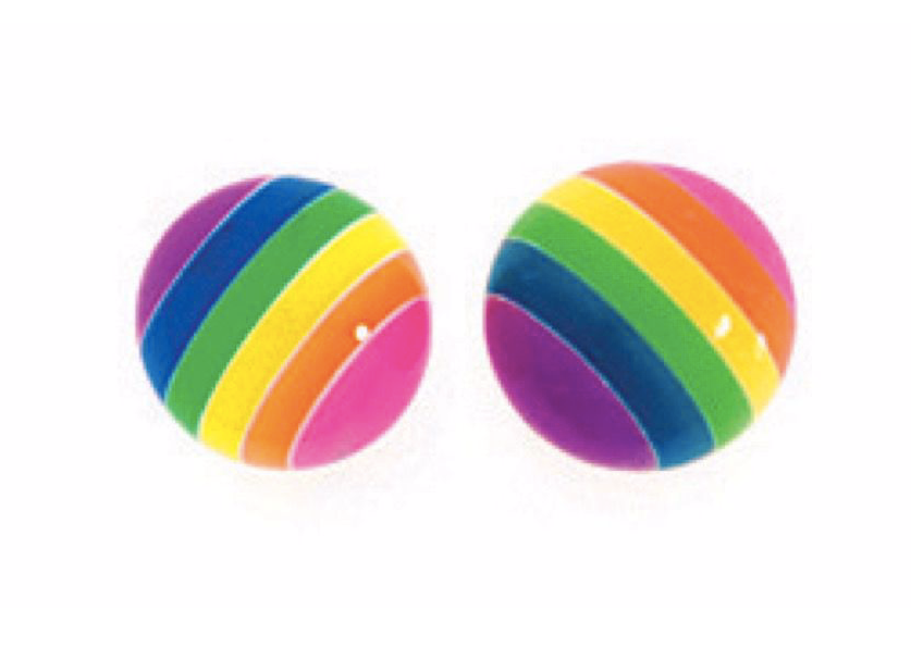 Rainbow Round Stud Earrings