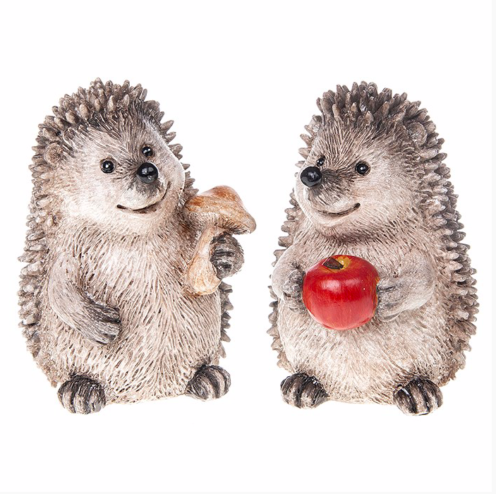 Large Happy Hedgehog Figure