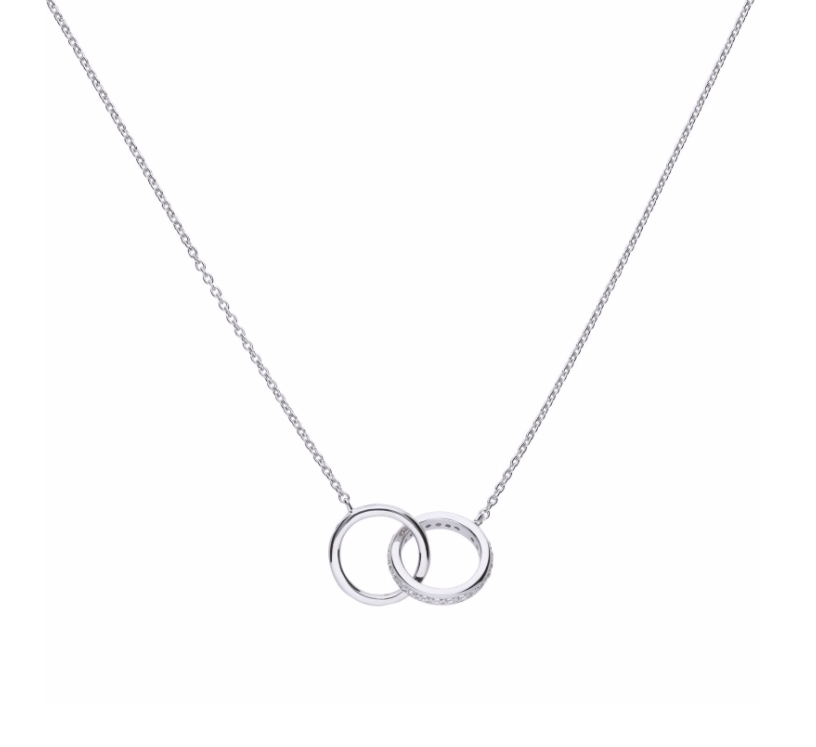 Diamonfire Interlocking Rings Necklace