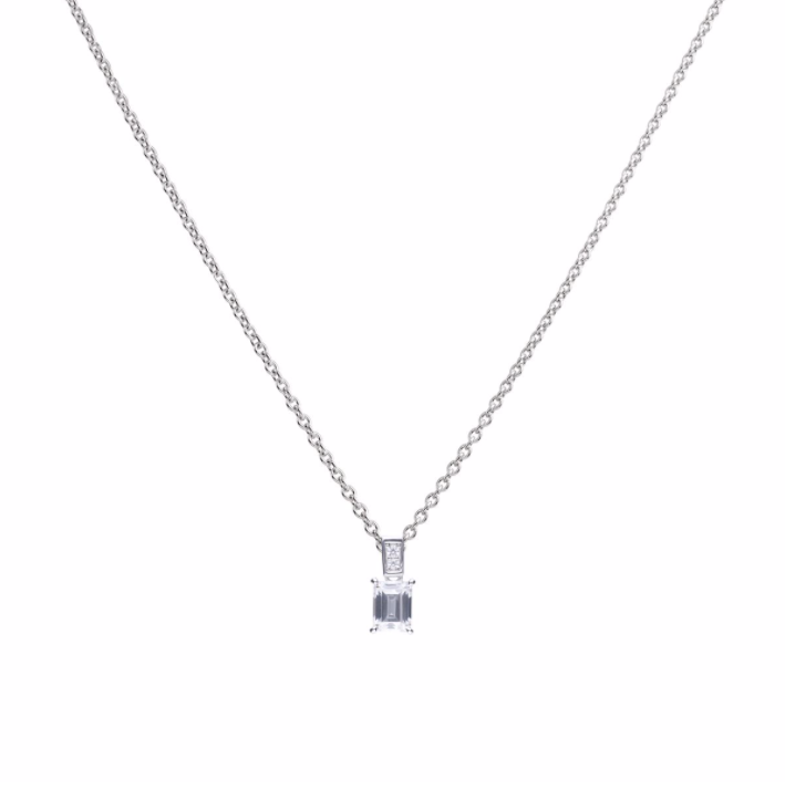 Diamonfire Emerald Cut Pendant