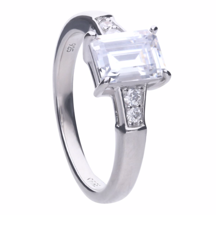 Diamonfire Emerald Cut Ring