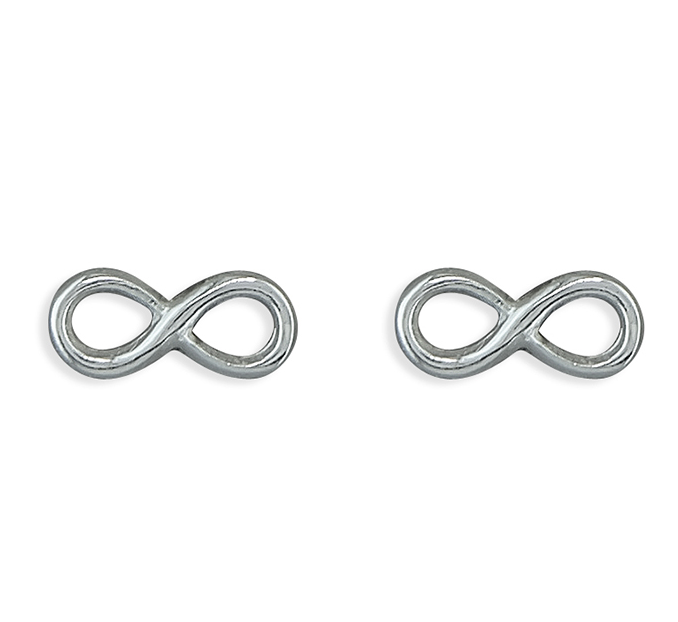 Silver Infinity Stud Earrings